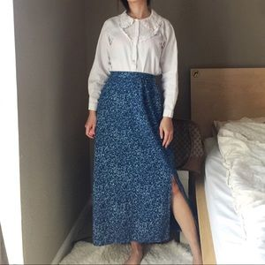 Vintage Linen Blend Skirt By Requirements.